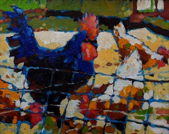 Fowl Play (Oil painting)