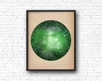 Leo Constellation, Art Print Poster, Leo Art, Zodiac Sign, Wall Art, Zodiac Art, Zodiac Constellation, Wall Art Prints,