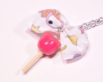 Pink love Apple pendant