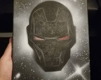 War Machine - (small) Spray paint on stretched canvas