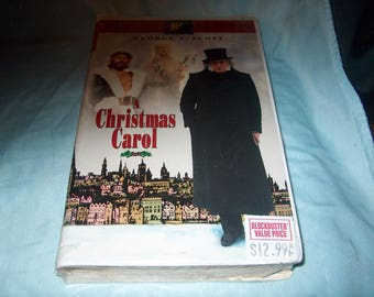 VHS Movie Factory Sealed, A Christmas Carol, George C. Scott