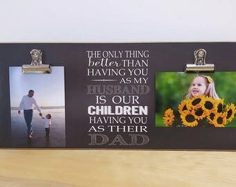 Father's Day Gift For Husband, Gift For Dad, Personalized Photo Frame, Father Son Picture Frame, Father's Day Gift Idea, Gift For Him