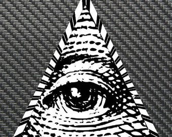 Illuminati All Seeing Eye Vinyl Sticker Decal Custom
