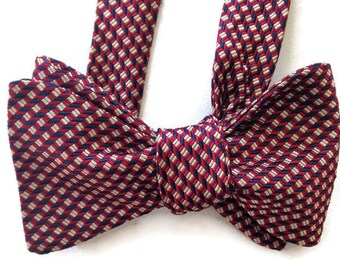 Silk Bow Tie for Men - Hero - One-of-a-Kind, Handcrafted - Self-tie - Free Shipping