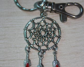 Key dream catcher and feathers