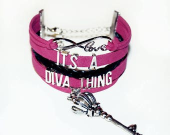 Diva Queen Bracelet | Diva Bling | Diva Bracelet |  Diva Jewelry | Queen Diva | Lady Diva | Gift for Daughter | Ladies Gift | Gag Gift