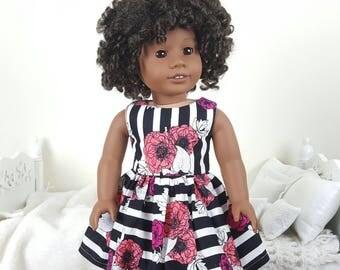 18 inch doll floral dress | striped dress |