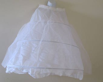 """Crinoline, Hoop Skirt, Costume, Prom, Ball Gown, Halloween, Theatre, Wedding - 36"""" long with adjustible waist. 3 hoop - extra layer of Tulle"""