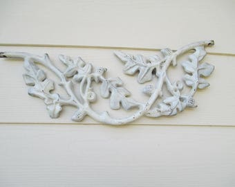 "Iron Wall Hanging - Acorns - Oak Leaves - Oak Motifs - Lovely - 19 1/2"" Long - Classic Vintage Piece - Looks Great on Any Wall - In or out"