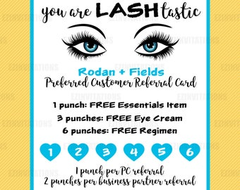 Digital Rodan and Fields Referral Card - lashtastic - lash boost - R+F referral cards - RF referral - digital file