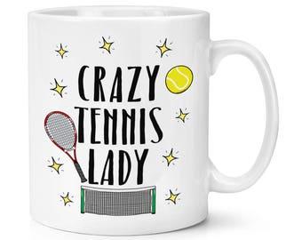 Crazy Tennis Lady 10oz Mug Cup