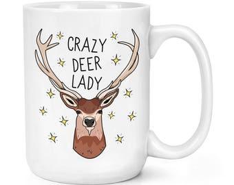 Crazy Deer Lady 15oz Mighty Mug Cup
