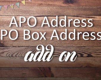 APO, PO Box address add on upgrade