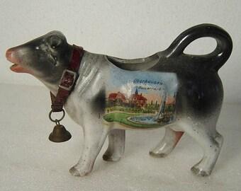 antique German porcelain cow creamer milk jug Oberhausen Kaisergarten c. 1900
