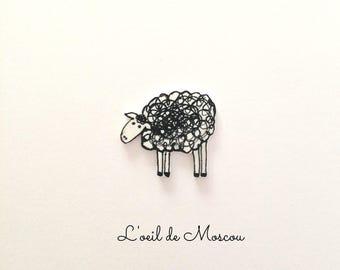 pin's original plastic shrink sheep
