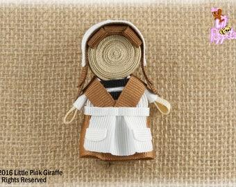 Lil' Poppet™ Gretel, Ribbon Sculpture Hair Clip or Brooch Pin