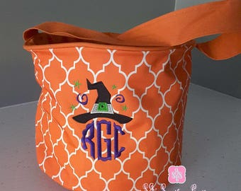 Monogrammed Halloween Buckets Personalized Halloween Buckets for Boys and Girls