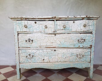 Shabby Chic  distressed antique dresser