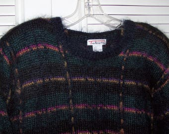 Sweater XL Mohair Pullover by Talbot's , Warm Heavy Sweater, Shoulder Pads, Perfect, see details