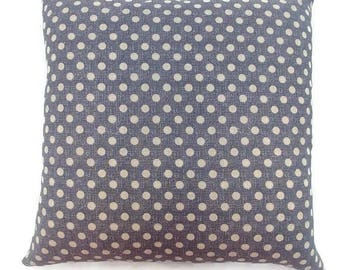 Grey and Tan Polka Dots-Invisible Zipper Pillow Cover Gray-Bedroom-Couch-Party-Decor