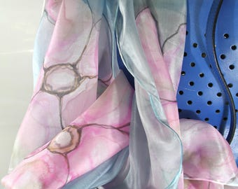 Women scarves - Hand painted silk scarves - Spring summer scarves - Special gift for her- Silk scarves - Summer acessoires - Beach scarves