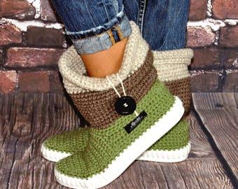 Crochet boots Uki-Crafts- Sand-Crochet Boots for the Street Folk Tribal Boots Boho 3 COLOR