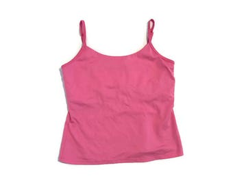 Bright Pink Tank Top with Built in Bra