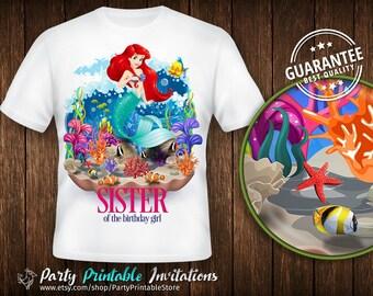 Little Mermaid Birthday Shirt, Little Mermaid Birthday Shirt for family