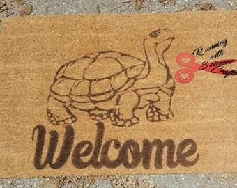 tortoise turtle doormat door mat custom front door decor custom