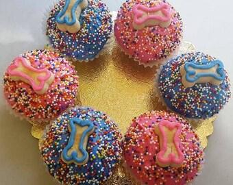 Dog Cupcakes, Mini-Size, 1/2 dozen (Serves 6)