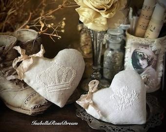 Sachet , lavender sachet, hand embroidered sachet, romantic sachet