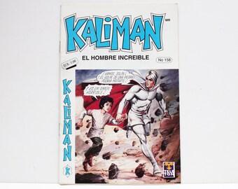 Kaliman El Hombre Increible No 158 El Dragon Rojo Revista en Español Comic Book in Spanish RARE
