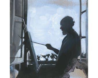Mattise in Studio- A4 Fine Art Giclee Print