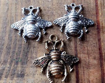 Bee Charms. Honey Bee Charms. Gold Charms. Silver Charms. Save The Bees.