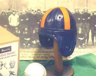 1940 Mini Clemson Leather Football Helmet (1/3 scale)