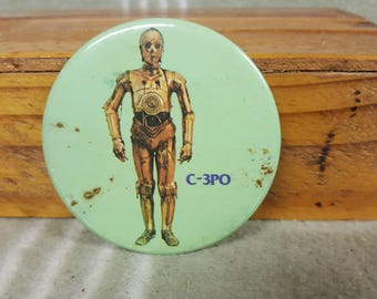Vintage 1977 STAR WARS C-3PO Pin