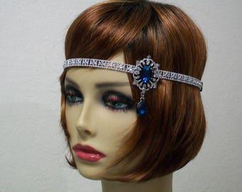 1920s headband, 1920s Flapper headpiece, Gatsby headband, 1920s dress, Forehead headband, 1920s accessories, Roaring 20s dress, Jazz Age