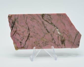 Pink rhodonite slab