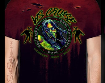 Walker Stalker cruise shirt - 2018 ( Please order a size smaller than you wear )