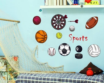Boys Sports Wall Decals Bedroom Wall Stickers AW7095