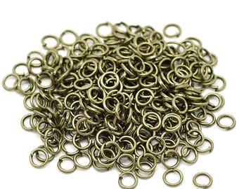 50% OFF Clearance Sale-- Antique Bronze Open Jump Rings 5mm 19ga