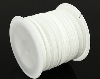 5 Meter/ Roll White Faux Suede Cord 3x1.5mm ( No.02)