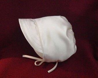 Christening bonnet for baby boy