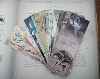 Set of 23 bookmarks (CAT, Unicorn, dragon, Werewolf, Phoenix)