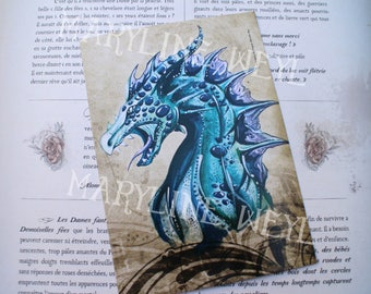 map postcard blue dragon