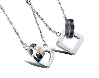 I'll Always Remember Our Promise - Couples Necklaces / Girlfriend and Boyfriend Necklaces / His and Hers Necklaces