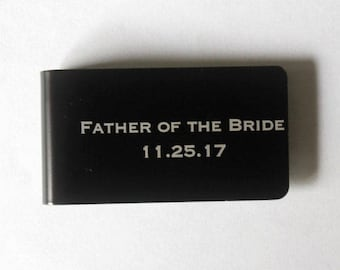 Father of the bride gift, Personalized money clip, Father of the bride or groom gift, Groomsman money clip, Money clip, Money wallet