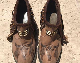 Boho Leather Boots