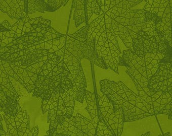 Autumn Reverie - Olive Leaves 2179-24 by Clothworks Cotton Fabric Yardage