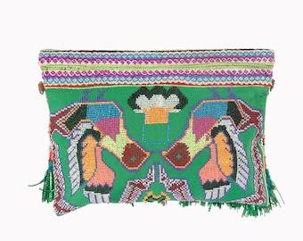 50% OFF | OOAK, Clutch Bag, Boho Clutch, Embroidery, Clutch Pattern, Ethnic Bag, Tassel Fringe, Evening Bag, Women Purse, Boho Accessories